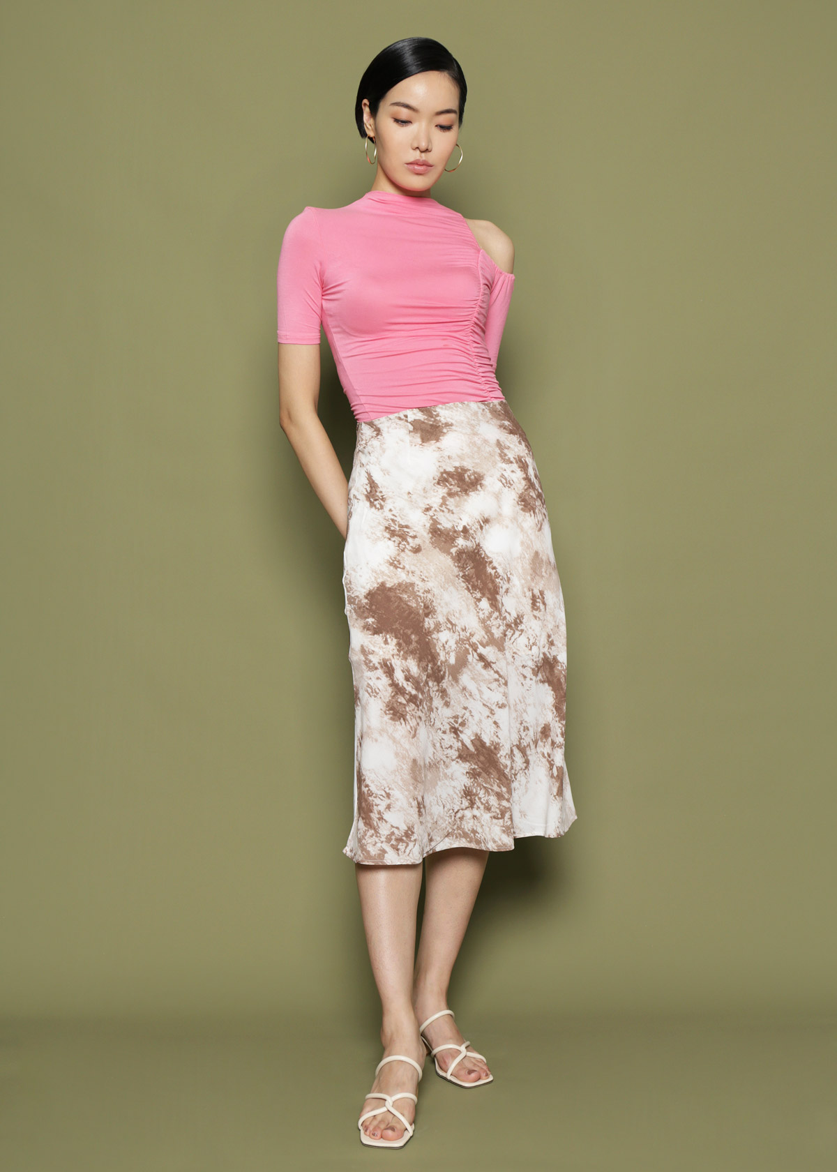 2c33d21d22 Tie Dye Skirt [Brown] | S O E U R S